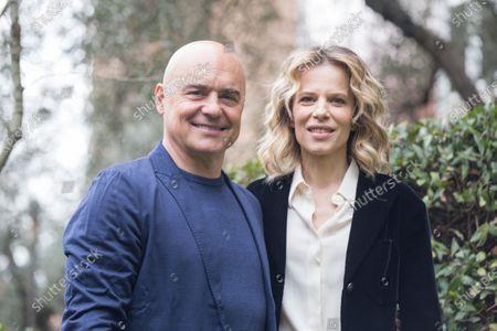 Stock Photo of Luca Zingaretti and Sonia Bergamasco