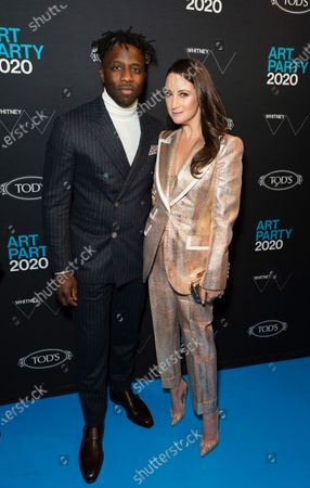 Nigel Sylvester and Micaela Erlanger attend Whitney Contemporaries Art Party at Whitney Museum of American Art