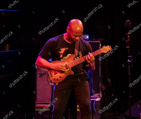 Stock Picture of Kevin Eubanks performs for Eubanks Evans Experience during Winter Jazz Festival at (le) Poisson Rouge