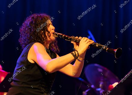 Stock Picture of Anat Cohen performs with Artemis band during Winter Jazz Festival at (le) Poisson Rouge