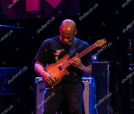 Stock Image of Kevin Eubanks performs for Eubanks Evans Experience during Winter Jazz Festival at (le) Poisson Rouge