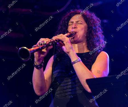 Stock Image of Anat Cohen performs with Artemis band during Winter Jazz Festival at (le) Poisson Rouge