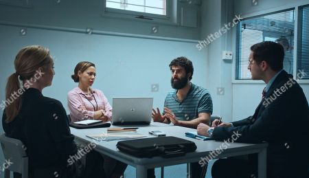 Stock Photo of Asher Keddie as Clare Kowitz, Simone Annan as Fiona Okoh, Fayssal Bazzi as Ameer and Philippos Ziakas as Lawyer