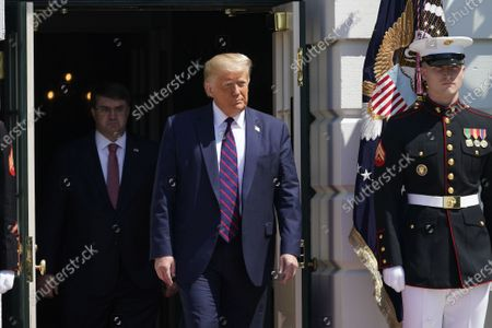 Editorial picture of Trump welcomes Terry Sharpe, the Walking Marine to the White House, Washington, District of Columbia, USA - 27 Jul 2020