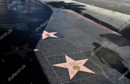 "Stock Image of Olivia de Havilland's star on the Hollywood Walk of Fame is pictured, in Los Angeles. The two-time Oscar winner, best known for her role as the kindly Melanie in ""Gone With the Wind,"" died Sunday at her home in Paris. She was 104"