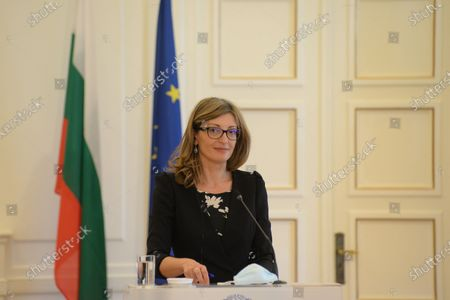 Deputy Prime Minister and Minister of Foreign Affairs of Bulgaria Ekaterina Zaharieva, during the statements to the press, after the end of the meeting with Greek Minister of Foreign Affairs Nikos Dendias.