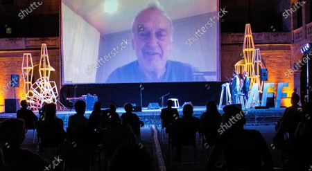 Stephen Frears thanks for video conference 'Masters of Cinema' awards during opening ceremony at 'Atlantida Film Fest 2020', Palma de Mallorca, Spain, 27 July 2020.