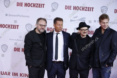 Samuel Finzi, Til Schweiger, Milan Peschel and Thomas Heinze on the red carpet in front of the Zoo Palace.