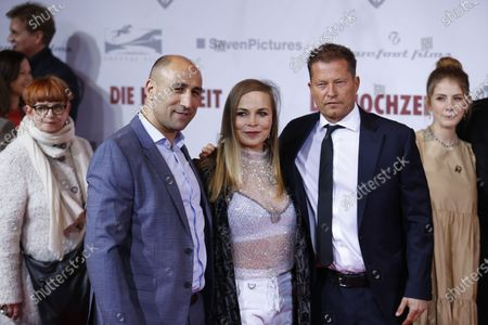 Arthur Abraham,Regina Halmich and Director and actor Til Schweiger on the red carpet in front of the Zoo Palace.