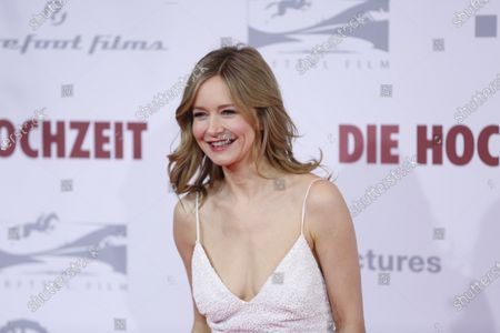 Stock Photo of Stefanie Stappenbeck  on the red carpet in front of the Zoo Palace.