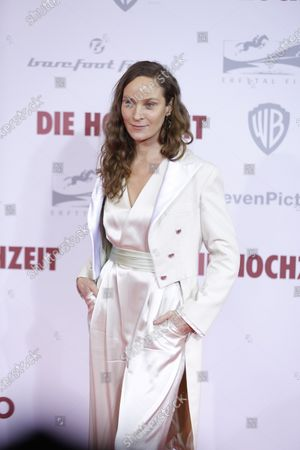 Stock Picture of Jeanette Hain on the red carpet in front of the Zoo Palace.