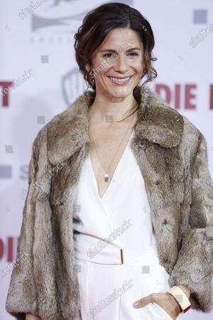 Stock Image of \Christina Hecke on the red carpet in front of the Zoo Palace.