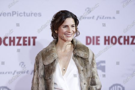 Stock Photo of Christina Hecke on the red carpet in front of the Zoo Palace.