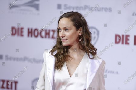 Stock Image of Jeanette Hain on the red carpet in front of the Zoo Palace.