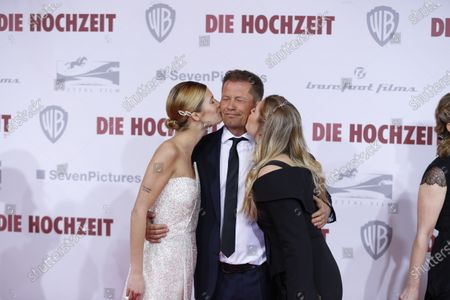 Director and actor Til Schweiger and Luna Schweiger and Lilli Schweiger  on the red carpet in front of the Zoo Palace.