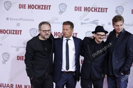 Stock Image of Samuel Finzi, Til Schweiger, Milan Peschel and Thomas Heinze on the red carpet in front of the Zoo Palace.