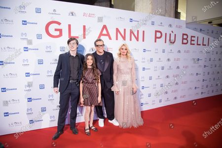Gabriele Muccino and his wife Angelica Russo and his son and daughter Penelope