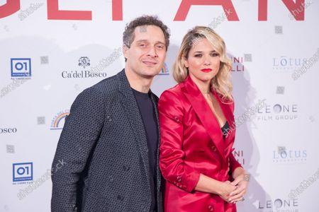 Claudio Santamaria and Francesca Barra