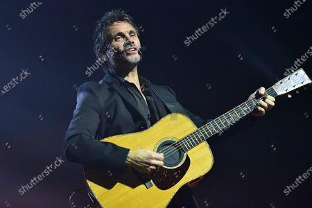 """Italian singer Filippo Neviani, aka Nek, performs live at Teatreo Augusteo in Napoli during his """"Il mio gioco preferito - European Tour""""."""
