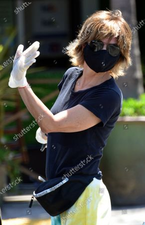 Stock Photo of Exclusive - Lisa Rinna wears a mask while out in Beverly Hills