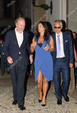 Andrea Bocelli, Veronica Berti, Arturo Artom