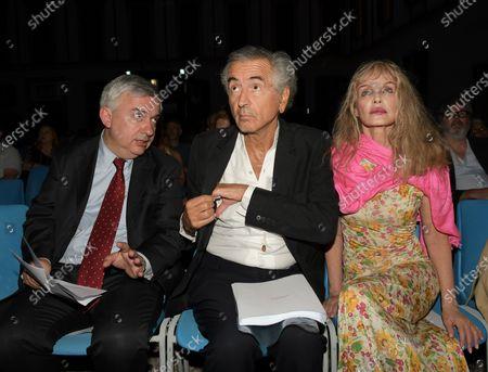Maurizio Molinari, Bernard-Henri Lévy, Arielle Domblasle