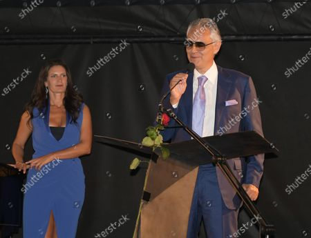 Editorial picture of Milanesiana, the colors of our life with Bernard-Henri Lévy, Andrea Bocelli and Elisabetta Sgarbi, Milan, Italy - 28 Jul 2020