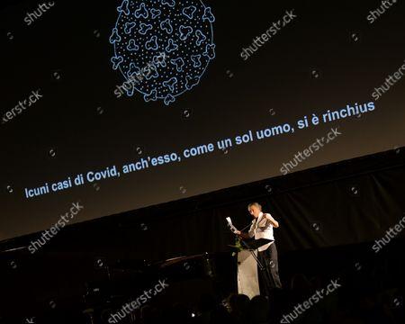 Editorial image of Milanesiana, the colors of our life with Bernard-Henri Lévy, Andrea Bocelli and Elisabetta Sgarbi, Milan, Italy - 28 Jul 2020