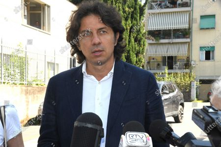 Italian right-to-die activist Marco Cappato speaks to journalists
