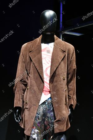 Stock Photo of Charles Jeffrey. Loverboy Autumn/Winter Collection, 2016, at Electronic, From Kraftwerk to The Chemical Brothers exhibtion at The Design Museum
