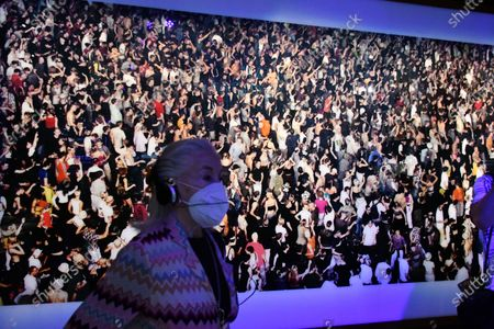 Andreas Gursky. Union Rave, 1995, at Electronic, From Kraftwerk to The Chemical Brothers exhibtion at The Design Museum
