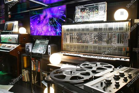 Jean-Michel Jarre imaginary studio, at Electronic, From Kraftwerk to The Chemical Brothers exhibtion at The Design Museum