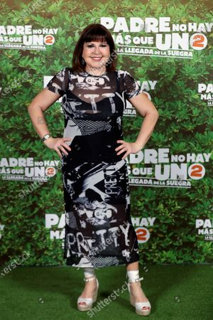 Stock Picture of Loles Leon poses for the photographers during a photocall for the movie 'Padre no hay mas que uno 2' (Father There Is Only One, part 2) at Bankia Principe Pio Theater in Madrid, Spain, 28 July 2020. The film opens in Spanish cinemas on 01 August.