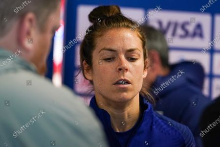 Stock Photo of Kelley O'Hara of the USA interview during the 2020 SheBelieves Cup Women's International media activities of the USA ahead of the friendly against Spain