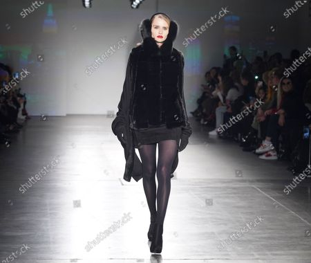 Stock Picture of Model walks runway for Zang Toi collection during Fashion Week at Pier 59