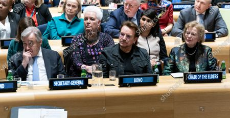 Antonio Guterres, Bono, Mary Robinson attend High-Level Event A Call to Action for the Education of Adolescent Girls at UN Headquarters