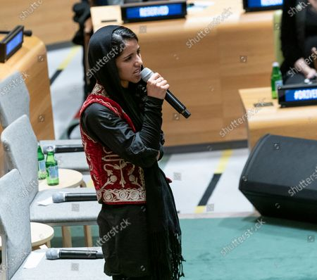 Sonita Alizadeh sings at High-Level Event A Call to Action for the Education of Adolescent Girls at UN Headquarters