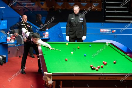 Editorial photo of Exclusive - Betfred World Snooker Championship, Day Two, Crucible Theatre, Sheffield, UK - 01 Aug 2020