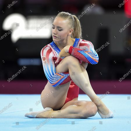 Lieke Wevers (ned) at the floor during Artistic Gymnastics World Championships, Gymnastics