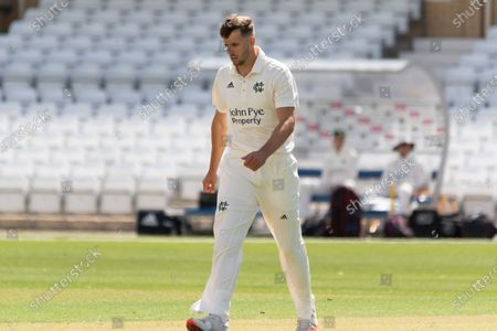 Tom Baker during the Bob Willis Trophy match between Nottinghamshire County Cricket Club and Leicestershire County Cricket Club at Trent Bridge, West Bridgford