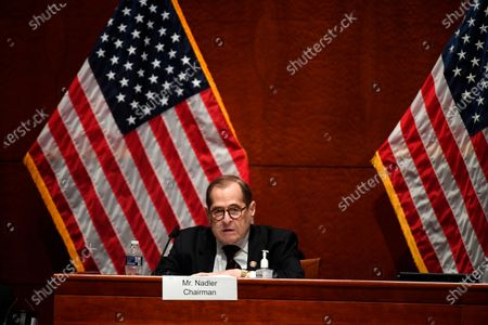 House Judiciary Committee Chairman Jerry Nadler, D-N.Y., questions Attorney General William Barr during a House Judiciary Committee hearing on the oversight of the Department of Justice on Capitol Hill, in Washington