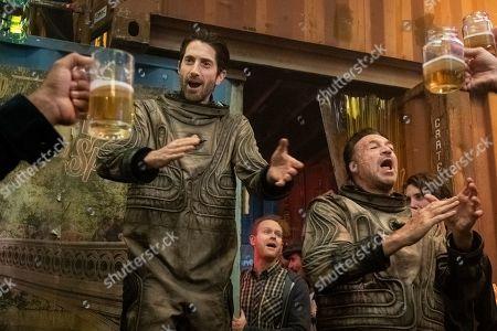 Stock Image of Iddo Goldberg as Bennett Knox and Aleks Paunovic as Breachman Boscovic