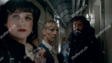 Stock Picture of Lena Hall as Miss Audrey, Mickey Sumner as Bess Till and Daveed Diggs as Andre Layton