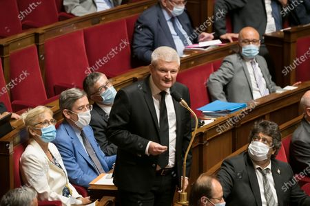 Olivier Falorni during the weekly session of questions to the government at the National Assembly.