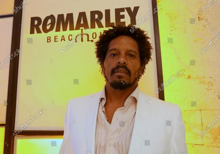 Rohan Marley, son of late legendary Jamaican musician Bob Marley, attends the opening of the Club Playa Ro Marley Beach House in Puerto Morelos, Mexico, 24 July 2020.
