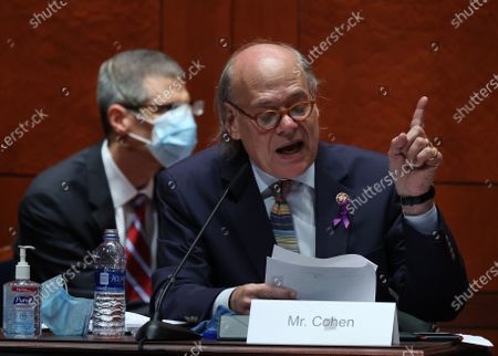 United States Representative Steve Cohen (Democrat of Tennessee) questions US Attorney General William Barr during a House Judiciary Committee hearing on Capitol Hill in Washington, DC. In his first congressional testimony in more than a year, Barr faced questions from the committee about his deployment of federal law enforcement agents to Portland, Oregon, and other cities in response to Black Lives Matter protests; his role in using federal agents to violently clear protesters from Lafayette Square near the White House last month before a photo opportunity for President Donald Trump in front of a church; his intervention in court cases involving Trump's allies Roger Stone and Michael Flynn; and other issues.