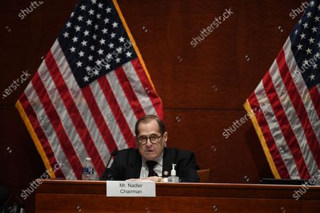 United States Representative Jerrold Nadler (Democrat of New York), Chairman, US House Judiciary Committee asks a question of US Attorney General William Barr who appears before the committee on Capitol Hill in Washington D.C..
