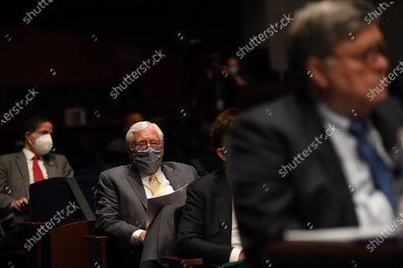 United States House Majority Leader Steny Hoyer (Democrat of Maryland) sits in the audience while US Attorney General William Barr appears before the US House Committee on the Judiciary on Capitol Hill in Washington D.C..
