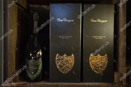 Stock Photo of Champagne Dom Perignon, Lenny Kravitz Edition. Cave Bianchi dans le Vieux