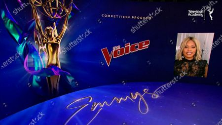 Laverne Cox announces this year's Emmy nominees for Outstanding Competition Program during the 72nd Emmy Awards Nominations Announcements which streamed LIVE on Emmys.com on @ 8:30 AM PDT